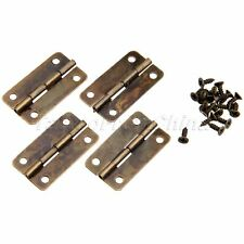 30*17mm Antique Bronze Cabinet Hinges Drawer Door Jewellery Box Hinges Hardware