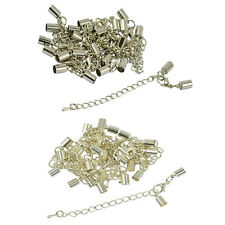12pcs 5mm Clasp Clip End Caps Set Necklace Bracelet Lobster Clasp Extender Chain
