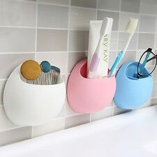 Rack Stand Wall Mount Bathroom Toothbrush Holder Organizer Wall Suction Cup