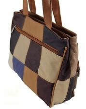 New Quality Cowhide Leather Womens Ladies Soft Patchwork Shoulder Handbags Bags