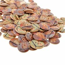 50Pcs Scrapbooking Home Decorative Sewing Owl Design Patchwork Wooden Buttons