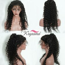"12"" Curly Women's Best Full Lace Wigs Human Hair Indian Remy Lace Wig Baby Hair"