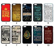 Harry Potter Quotes Hogwarts Badge For Apple iPhone iPod & Samsung Galaxy Case