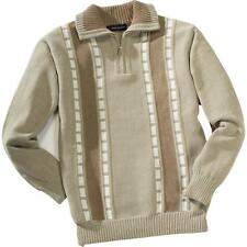 Rick Armand Men's Chenille Sweater Troyer Pullover Sweater Size L Long Sleeve