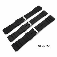 Waterproof Diver Rubber Strap Deployment Buckle Silicone 18mm - 22mm Watch Band