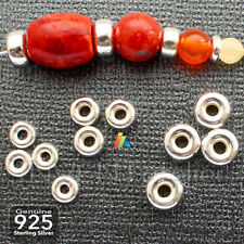 925 STERLING SILVER 4.5-6.3mm DONUT SMOOTH RONDELLE BEADS SPACER FINDINGS
