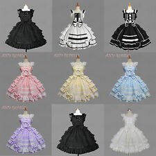 Vintage Gothic Lolita Cosplay Costume Dress Sweet Princess Dress Lace Skirt