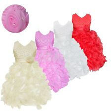 Flower Girls Princess Ruffles Tutu Dress Bridesmaid Party Formal Gown Ballet