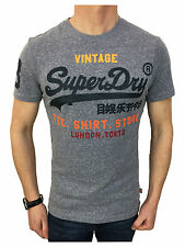 Superdry Mens Shirt Shop T-Shirt in Blue Snow Size Large