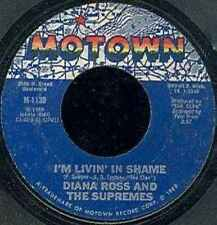 """Diana Ross And The Supremes-I'm Livin' In Shame 7"""" 45-Motown, M-1139, 1969, US P"""