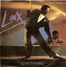 """Linx-So This Is Romance 7"""" 45-Chrysalis, 103 583-100, 1981, Picture Sleeve BENEL"""