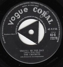 "Crickets, The-That'Ll Be The Day 7"" 45-Vogues Coral, 45-Q 72279, Plain Sleeve 19"