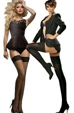 """Egeo Sensuous Lace Top Hold-ups """" Erotica """" 40 and 60 and 15 Den Denier New"""