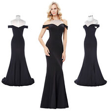 Sexy Off Shoulder Long Formal Evening Dresses Celebrity Pageant Party Prom Gowns