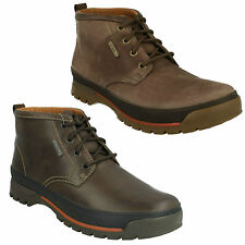 MENS CLARKS LEATHER LACE UP WATERPROOF CASUAL ANKLE BOOTS SHOES NARLY HILL GTX