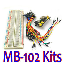 HOT MB-102 Solderless Breadboard Protoboard 830 Tie Points 2 Totall Test Circuit