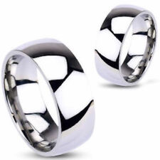 8mm Stainless Steel Mirror Polished Classic Traditional Wedding Ring