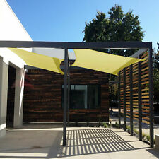 Canary Yellow Rectangle Sun Shade Sail Canary Awning Canopy Top 8 to 24 W/8''Kit