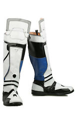 Mass Effect Scott Sarah Ryder Cosplay Costume Flat Patchy PU Leather Boots Shoes