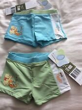 BN Baby Boys DISNEY WINNIE and TIGER swimming trunks - Blue or Green