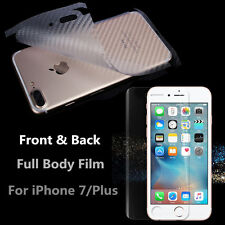 Full Body INVISIBLE Screen Protector Skin Front&Back For Apple iPhone 7 & 7 Plus