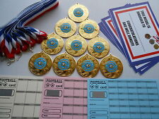 OUTSTANDING AWARD  MEDALS X 10 METAL/50MM /GOLD -SILVER OR BRONZE/ CERTIFICATE
