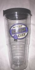 """Best Grandpa Ever"" NEW 24 oz. Clear Tervis Tumbler with lid"