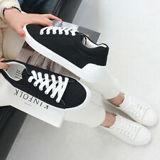 New Women Shoes Black White Simple Design Comfort Daily Fashion Sneakers Slip on