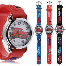 Unisex Cartoon 3D Cars Child Kids Analog Quartz Wrist Watch Rubber Band Gift Toy