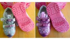 New Lelli Kelli *Silver Pink* Girl Toddler Sport Tennis Sparkling Bright Shoes