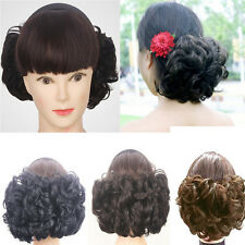 Natural Ladies Curly Hair Ponytail Wigs Hair Make Up Fluffy Curly Hairpiece