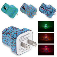 5V/1A LED USB For Home Phone Travel AC Wall Charging Charger Power Adapter US