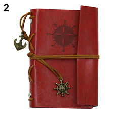 RETRO ANCHOR FAUX LEATHER COVER NOTEBOOK JOURNAL DIARY BLANK NAUTICAL GROOVY