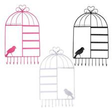 Vintage Jewelry Display Bird Cage Wall Hanger Shabby Chic Necklace Organizer