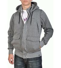 Globe Barford Zipped Hoody in Gunmetal Grey