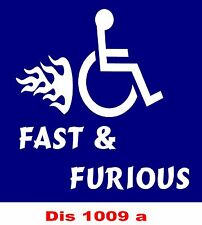 Fast & Furious (funny disabled sticker)