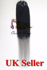 """18"""" Indian Premier Remy Loop Micro Ring 100% Human Hair Extensions 5A UK Seller"""