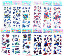 BATMAN SPIDERMAN SUPERMAN AVENGERS Stickers Boys Birthday Party Gift Bag Filler