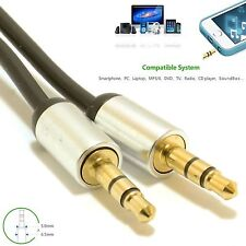 3.5mm Jack to Jack Male Cable Lead 3.5MM HQ Headphone/MP3/iPod/Car Laptop GOLD