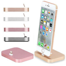 Aluminum Pad Lighting Sync Data Cable Dock Station USB Charger Cradle for iPhone