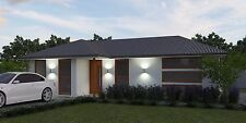 Construction Floor Plans - Small Kit Home Design - 2 Bedrooms - House Plans-DIY