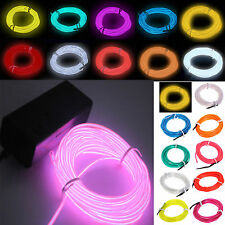 Hot 1-5M Flash Flexible Neon LED  Glow EL Strip Tube Wire Rope Car Party Light