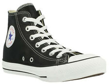CONVERSE CT 132170C HI LEATHER -  BLACK WHITE UNISEX TRAINERS