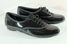 Clarks Girls Shoes NO OXFORD Black Patent Leather Brogue Style School