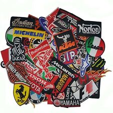 Wholesale Lot Auto Racing Car Motorcycle Mix Brand Embroidered Iron Sew on Patch