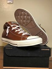 Mens Converse Chuck Taylor All Star Street Mid Fashion Brown Leather 136420C