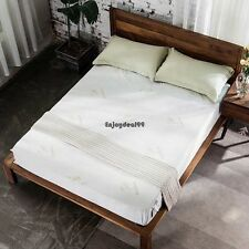 Homdox Bamboo Fiber Air Layer Mattress Protector Solid Multi sizes OO5501