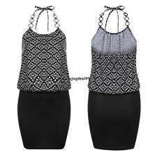 Meaneor Women Sexy Spaghetti Strap Halter Dots Package Hip Slim Mini OO5501