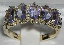 Solid 10k .417 Yellow Gold Natural Tanzanite Womens Band Ring - Sizes 4 to 12