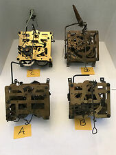 Lot of 4 Cuckoo Clock Movements Used For Parts Only - birds - Regula, B & K